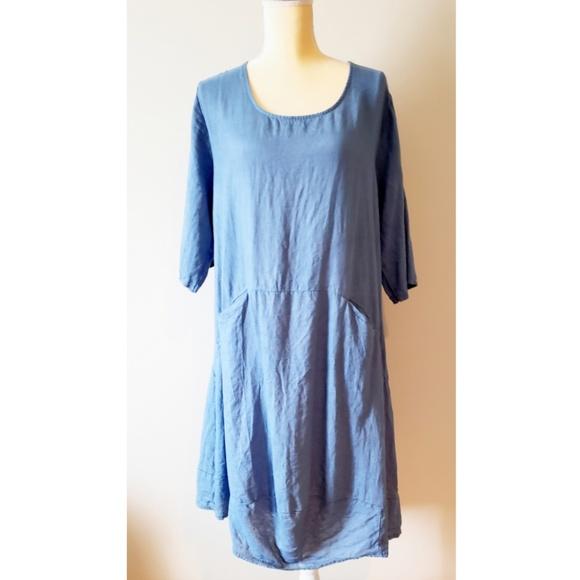 Couleur Lin Paris - Milan Blue Linen Dress